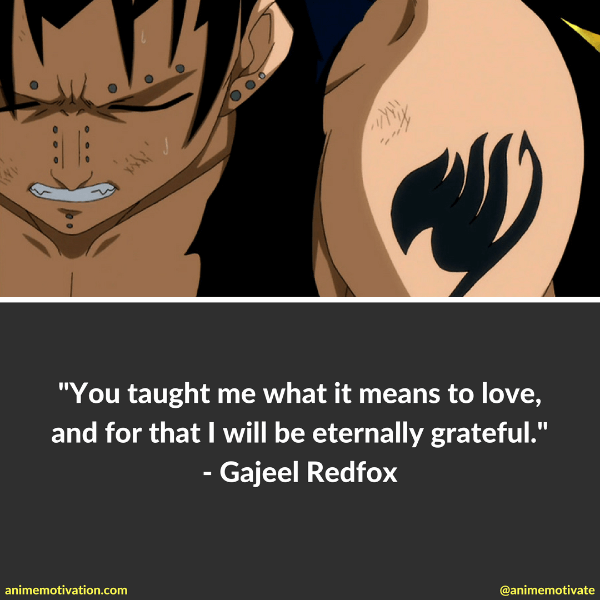 Gajeel Redfox Quotes For Fans