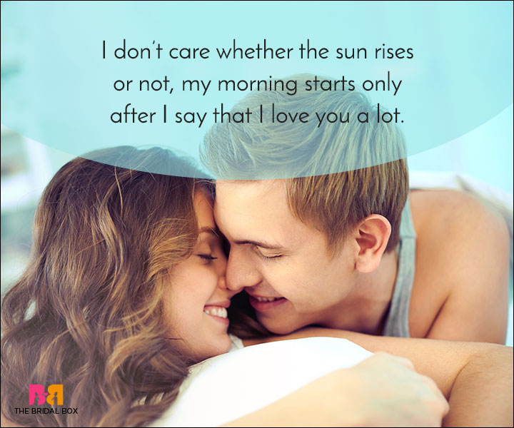 Good Morning Love Quotes My Morning Starts With You