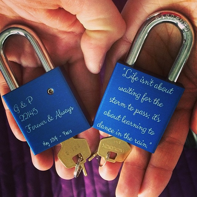 In Paris Its A Tradition To Put A Lock On A Bridge Over The Siene And