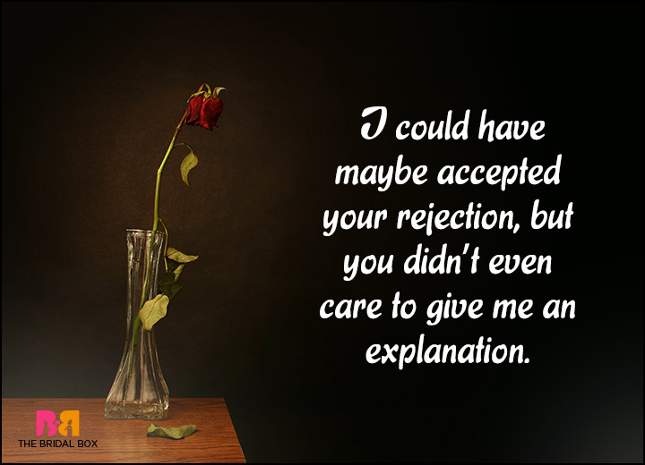 Love Rejection Quotes You Didnt Even Care