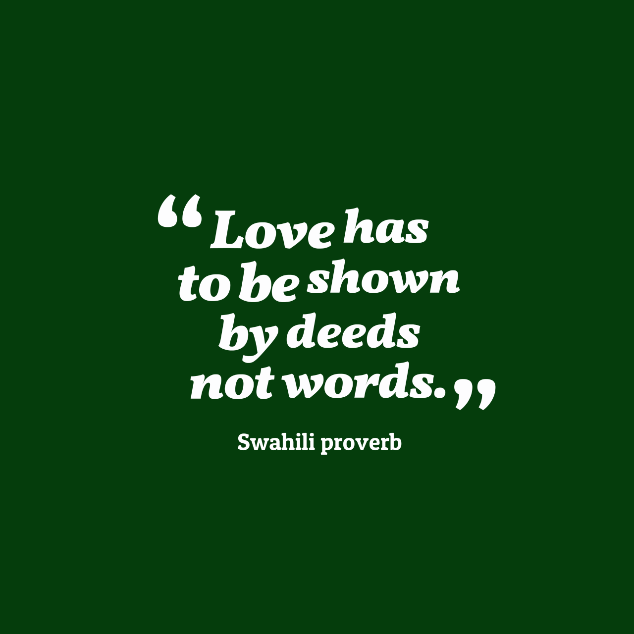 Swahili Proverb About Love