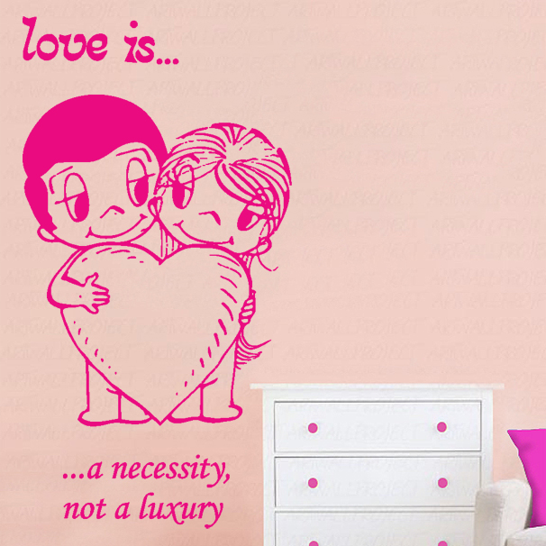M Ta Love Is Quote  Decal In A Bedroom Colour