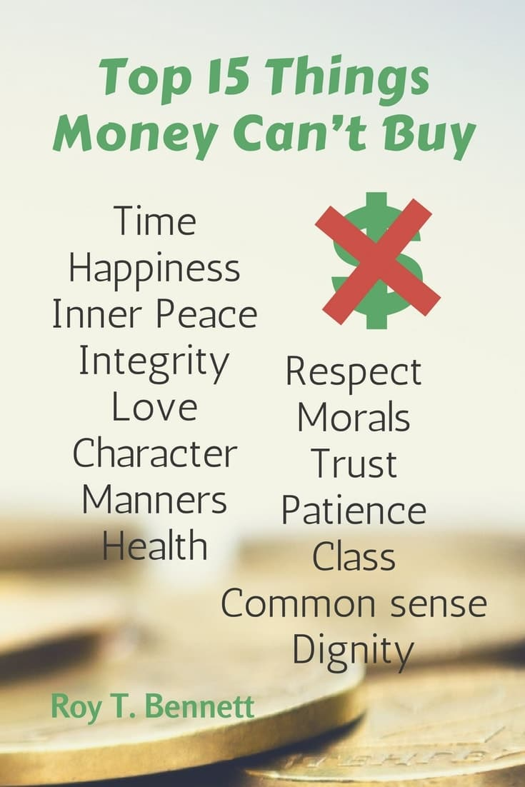 Top Quotes About Money Top  Things Money Cant Buy Time