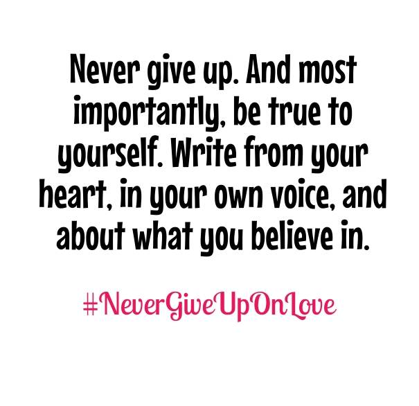 Never Give Up On Love Quote Picture
