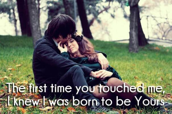 One Line True Love Sayings With Couple Images To Romance