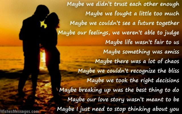 Romantic I Miss You Poem For Ex Girlfriend