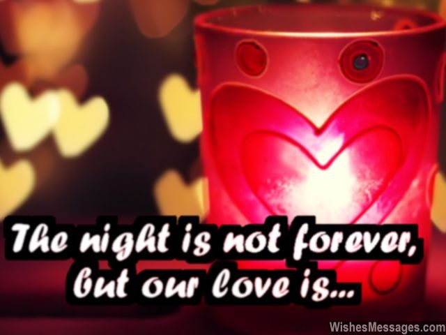 Romantic Message To Say I Love You At Night