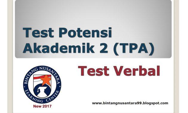 SBMPTN dan Contoh Soal: Test Potensi Akademik 2 (TPA) Test ...