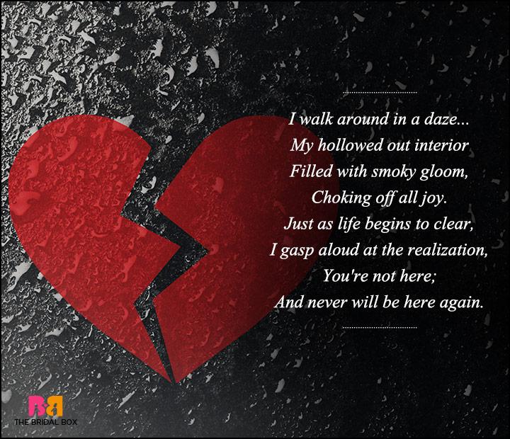Sad Love Poems For Him In A Daze