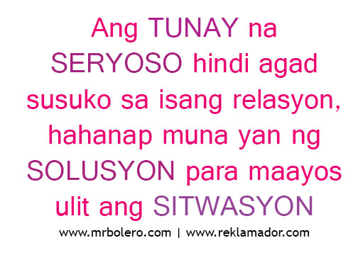 Tagalog Love Quotes Relasyon Problem Quotes