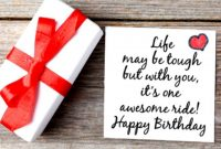 Sweet Birthday Card Quote For Him Life Awesome With You