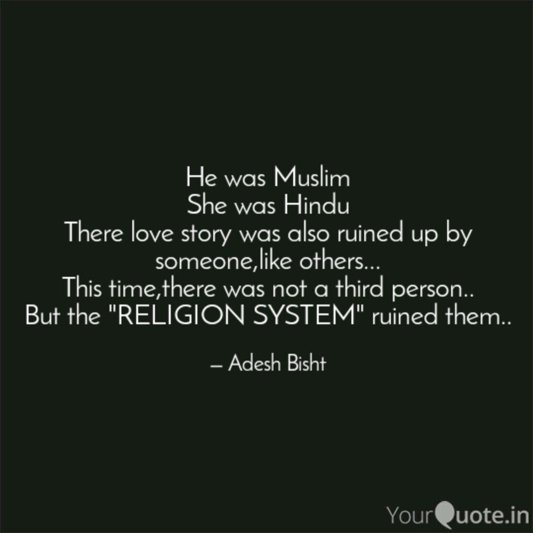 He Was Muslim She Was Hindu There Love Story Was Also Ruined Up By Someone