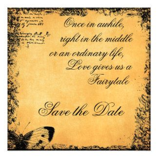 Vintagetale Love Quote Save The Date Custom Announcements