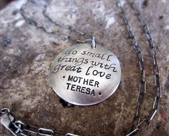 Mother Teresa Love Quote Necklace Or Your Personalized Quote