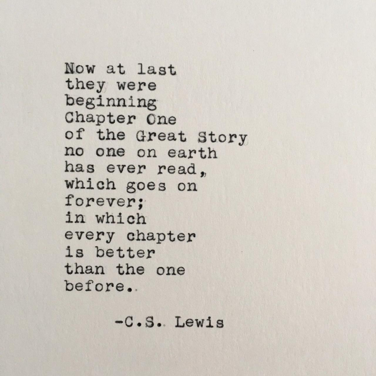 C S Lewis Love Quote Chronicles Of Narnia Typed On Typewriter X White Cardstock