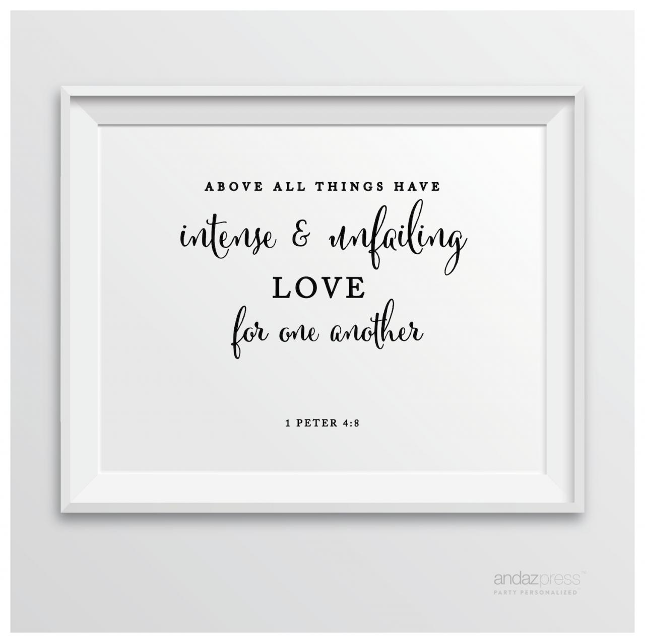 Biblical Love Quotes Andaz Press Biblical Wedding Signs Formal Black And White