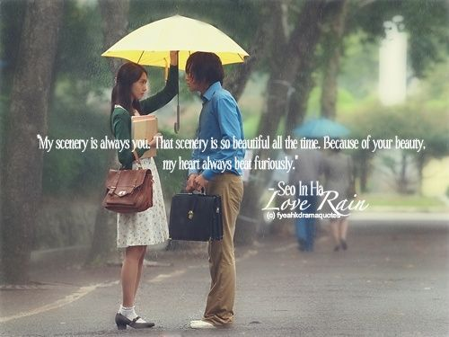 Love Rain Korean Drama Quotes And Sayings Google Search Also Interested In Korean Fashion