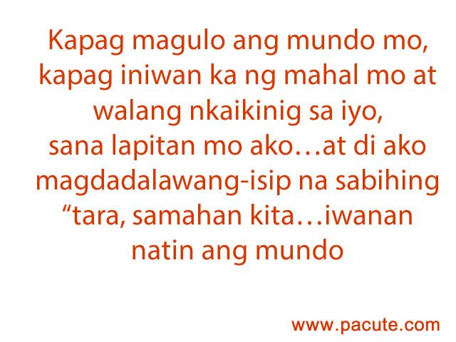 Pacute Com Tagalog Love Quotes Collections Online Tagalog Sad Love Quotes