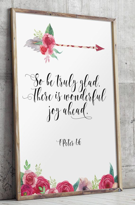 Wedding Quotes Wedding Quotes Bible Verse Wedding Bible Verse  Peter Scripture Print Art Be Truly Glad Love Quote Scripture Printable