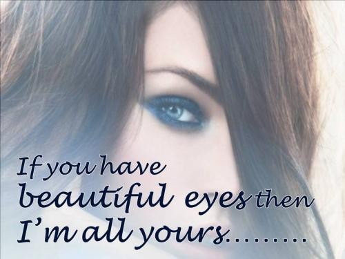 Beautiful Eyes Quote  Picture Quote