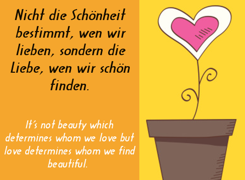 Beauty And Love Popular German Love Sayings