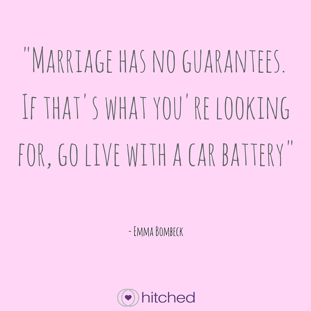 Marriage Is Like A Car Battery