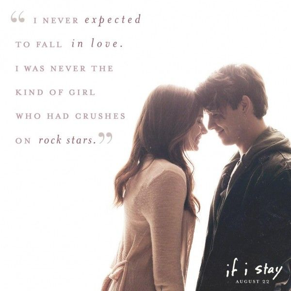 If I Stay Hall And Adam Wilde He Says In Where She Went  C B Rock Starsbook Quotesmovie