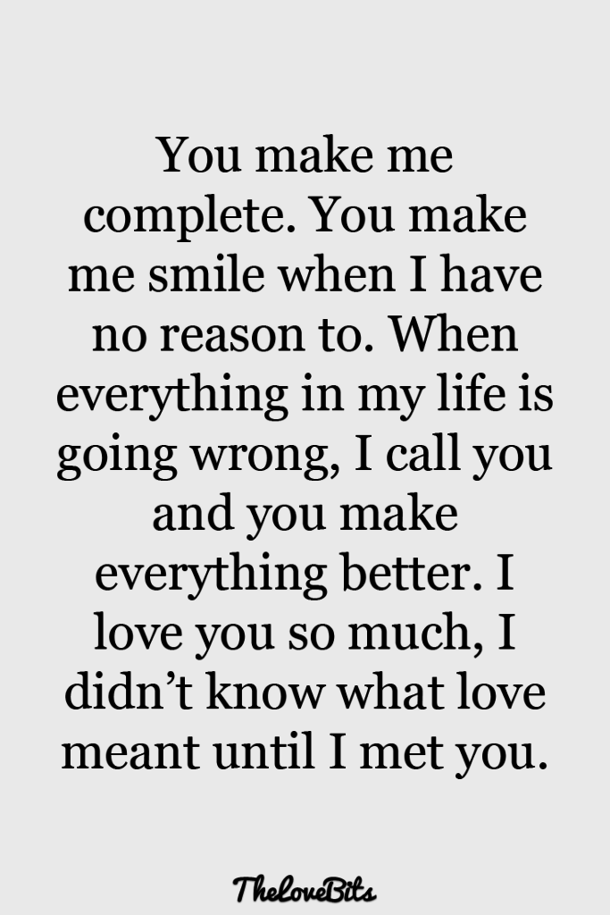 Boyfriend Quotes You Make Me Complete