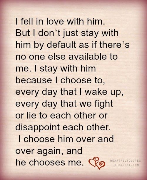 Heartfelt Love And Life Quotes I Fell In Love With Him
