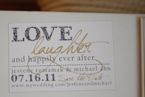 Items Similar To Modern Save The Date Magnet Or Card Happily Ever After On Etsy Wedding Quoteswedding