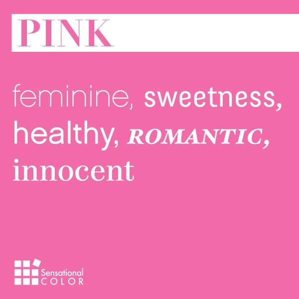 Words That Describe Pink