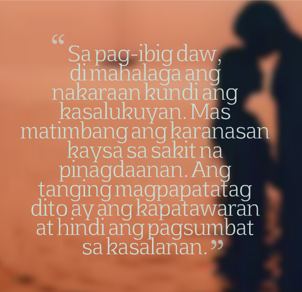 Boy Banat Patama Tagalog Love Quotes For You