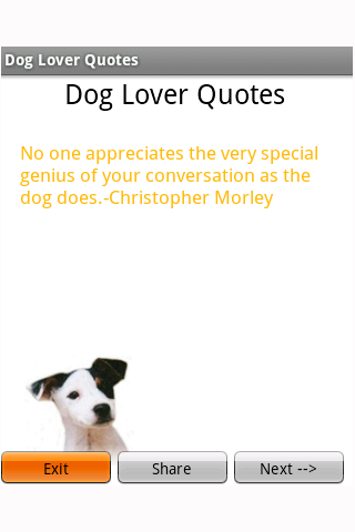 Dog Lover Quotes Screens