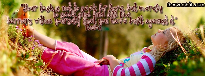 Seek Love Rumi Quotes Timeline Cover