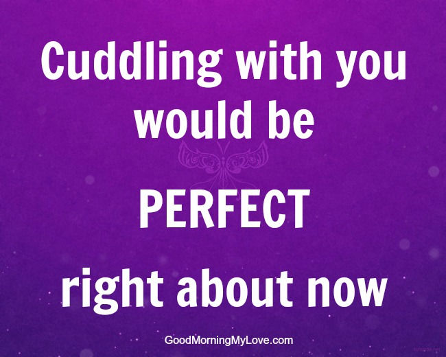 Cuddling And Funny Love Quotes For Him