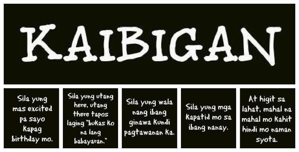 Kaibigan Quotes Tagalog
