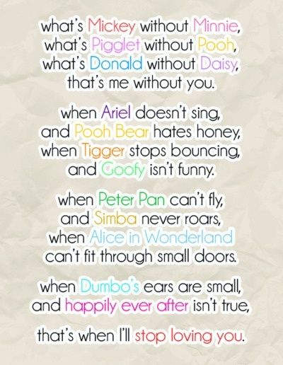 Cute Disney Love Quotes Sayings Sweet