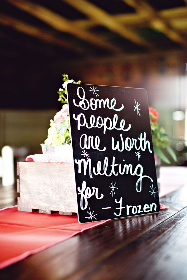 Display Love Quotes From Your Favorite Movies On Your Reception Tables