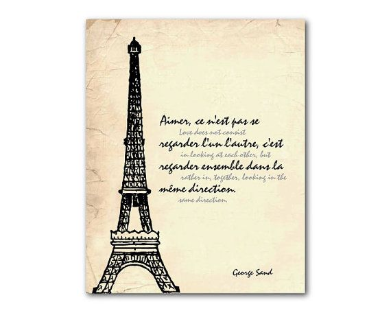 Items Similar To The Heart Has Its Reasons Eiffel Tower Paris France  Or Larger Print Wall Art Room Decor Inspirational Quote Blaise