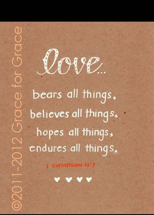 Bible Verse Art Love Bears Believes Hopes Endures X Typography Anniversary Wedding Shower Mothers Day Love Bible Verse Pinterest