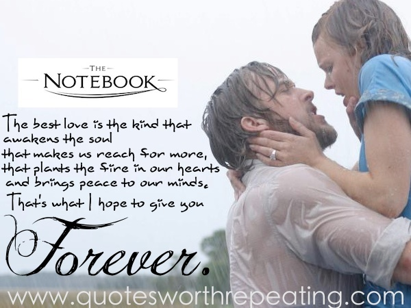 The Notebook Top Romantic Movie Quote