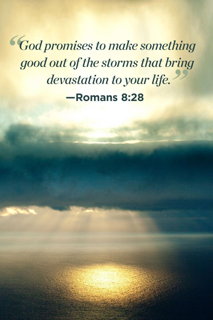 Inspiring Bible Quotes For Women Promises To Make Something Good Out Of The Storms That Bring Devastation To Your Life