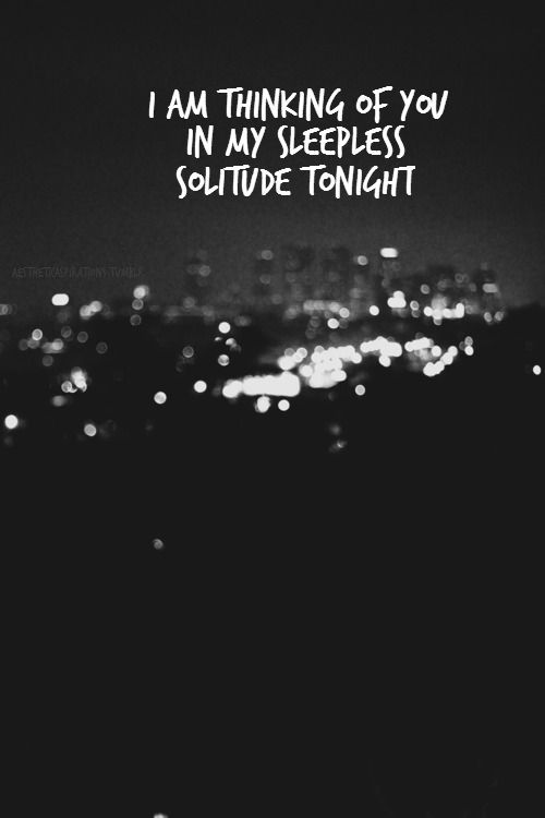 I An Thinking Of You In My Sleepless Solitude Tonight
