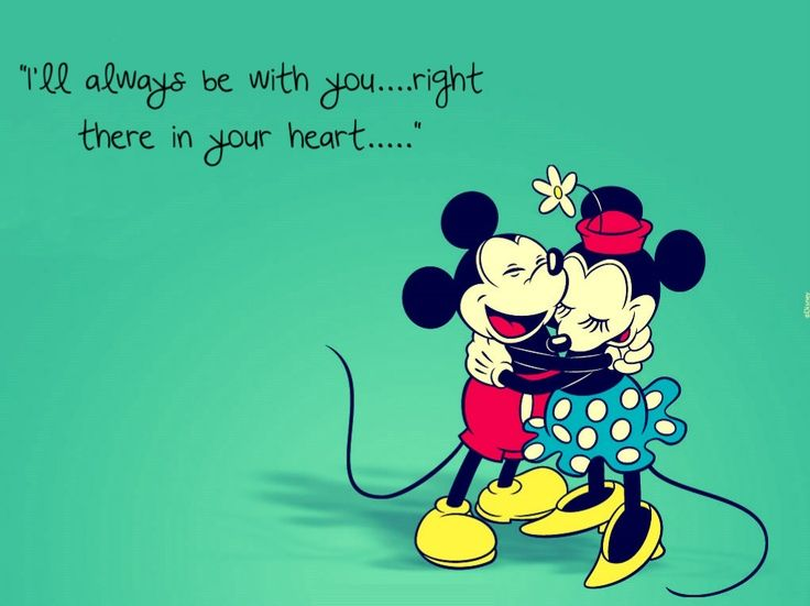 Mickey Mouse Love Quote For Minnie Mouse Wallpaper