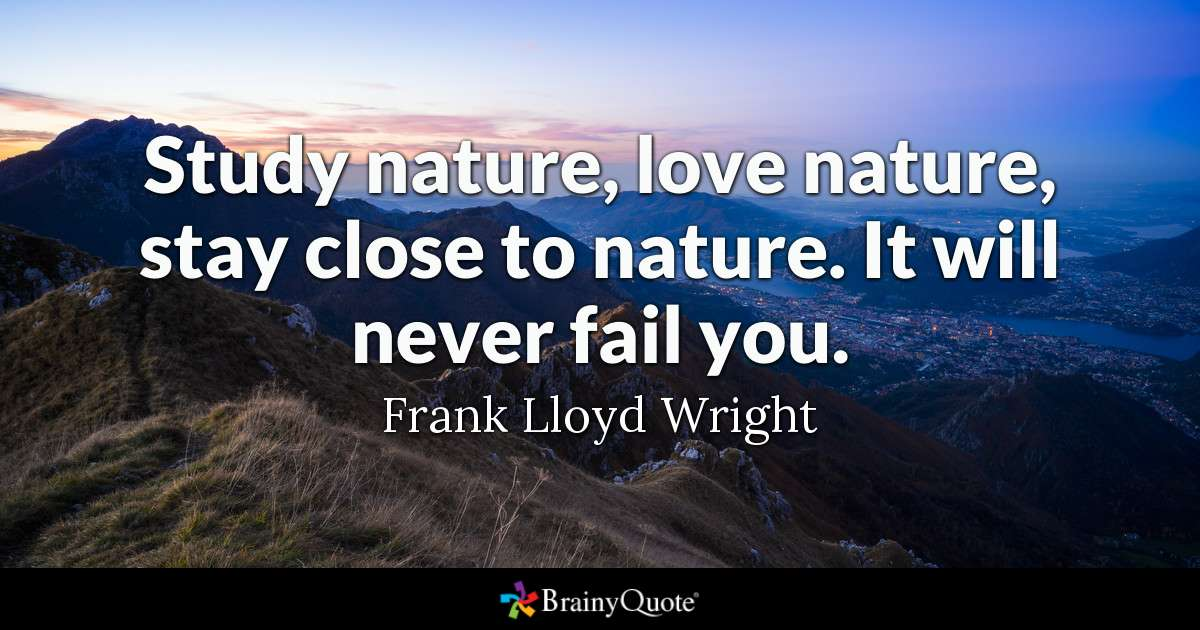 Quote Study Nature Love Nature Stay Close To Nature It Will Never Fail You