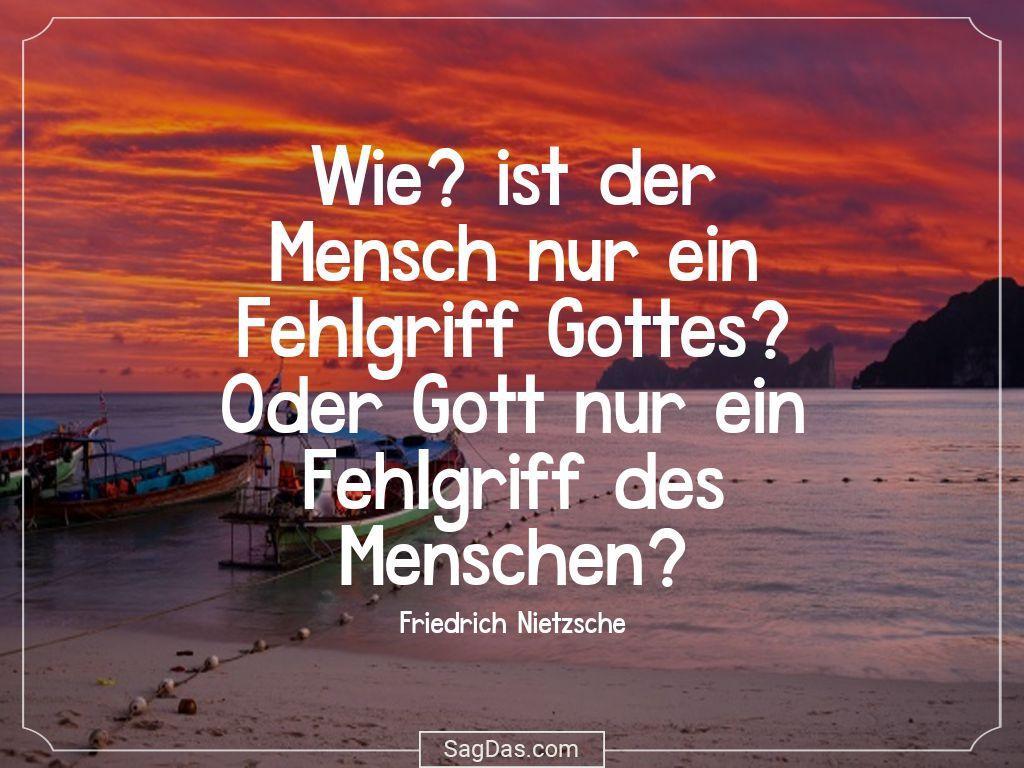 Friedrich Nietzsche Zitat Wie Ist Der Mensch Nur Ein