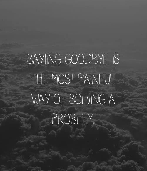 Goodbye Quotes Pain