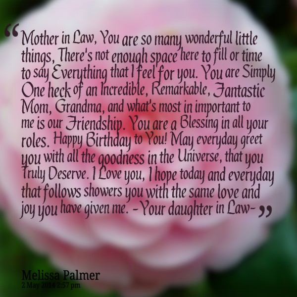 View Images Happy Birthday Mother In Law Quotes My