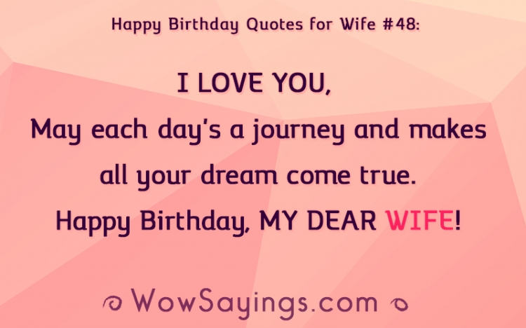Happy Birthday Quotes For Wife Wowsayings