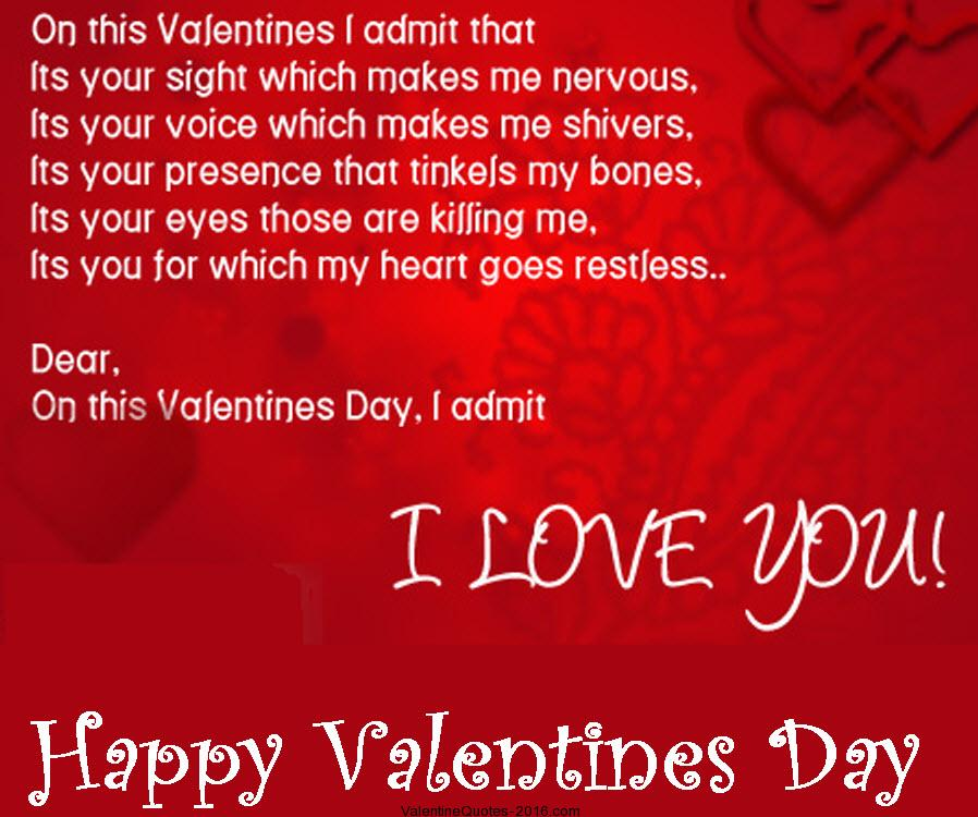 Happy Valentines Day To My Love Quotes Valentines Day Love Quotes For Her